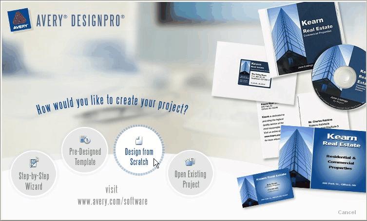 avery design pro